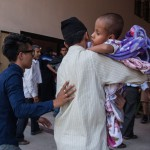 Kathmandu: Nepal: 2015 Victims flood BIR hospital as the second earthquake measuring 7.3 strikes Nepal. Sudan directs the volunteers and survivors working to deal sudden influx of injured.