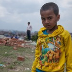 Paris Dada: Kathmandu: 13MAY2015  Five year old Sanupya Sangal's father left when he was born and his mother is working in Qatar to earn money. His uncle has been looking after during the earthquakes.