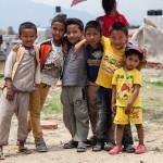 Paris Dada: Kathmandu: 13MAY2015  Children from Paris Dada pose for the camera. Schools and amenities remain closed around the country leaving thousands of children with nothing to do and nowhere to go.