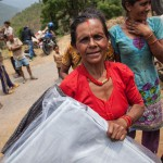 Dolakha: Nepal: 15MAY2015  Trucks deliver much needed aid to outlying areas of the Dolakha District in Nepal.