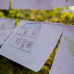 Sindhupawlchok: Nepal: 20MAY2015  Drawings done by Children from the Sidhiganaesh Primary School in Melamchi, Nepal show the houses they once lived in. Most of which have now either been significantly damaged or destroyed after two large earthquakes rocked Nepal within the space of three weeks.